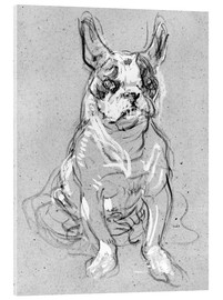 Cuadro de metacrilato  'Bouboule', the bulldog of Madame Palmyre at La Souris - Henri de Toulouse-Lautrec