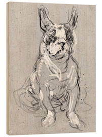 Cuadro de madera  'Bouboule', the bulldog of Madame Palmyre at La Souris - Henri de Toulouse-Lautrec