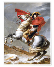 Póster  Napoleón cruzando el Grand Saint-Bernard Pass - Jacques-Louis David