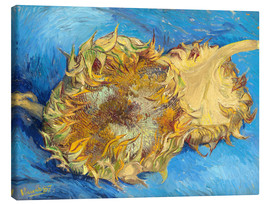 Lienzo  Two sunflowers - Vincent van Gogh