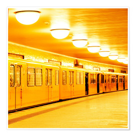 Póster Berlin subway