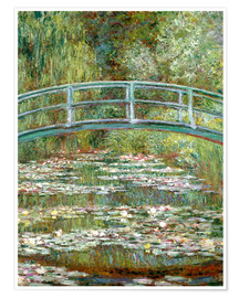 Póster  the japanese bridge - Claude Monet