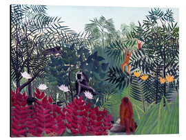 Aluminio-Dibond  Tropical Forest with Monkeys - Henri Rousseau