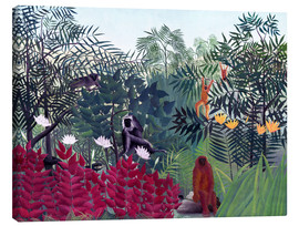 Lienzo  Tropical Forest with Monkeys - Henri Rousseau