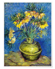 Póster  Fritillaries in a Copper Vase - Vincent van Gogh