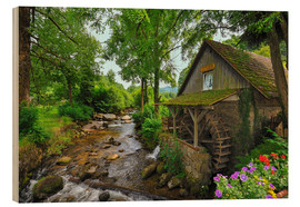 Cuadro de madera  Mill in the black forest - FineArt Panorama