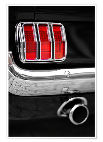 Póster Ford Mustang tail