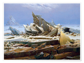 Póster  The Arctic (of the Hope) - Caspar David Friedrich