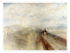 Póster  Rain, Steam and Speed - Joseph Mallord William Turner