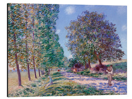 Cuadro de aluminio  Poplar Avenue at Moret on the Loing - Alfred Sisley