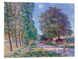 Cuadro de PVC  Poplar Avenue at Moret on the Loing - Alfred Sisley