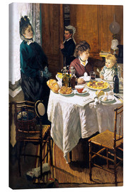 Lienzo  The Breakfast - Claude Monet
