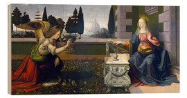 Madera  The Annunciation - Leonardo da Vinci