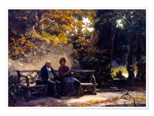 Póster The couple on the bench