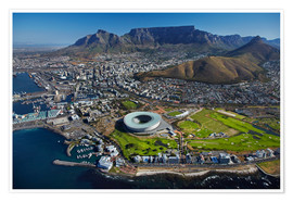 Póster  Aerial view of Cape Town Stadium - David Wall