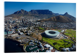 Cuadro de metacrilato  Cape Town Stadium and Table Mountain - David Wall