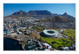 Póster  Cape Town Stadium and Table Mountain - David Wall
