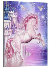 Cuadro de aluminio  Pink Magic Unicorn - Dolphins DreamDesign