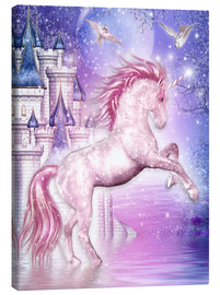 Lienzo  Pink Magic Unicorn - Dolphins DreamDesign