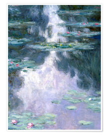 Póster  Water Lilies - Claude Monet