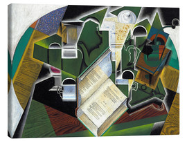 Lienzo  Still life with a book and glasses - Juan Gris