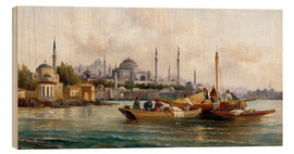 Madera  Merchant vessels in front of Hagia Sophia, Istanbul - Anton Schoth