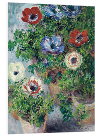 Claude Monet - Anemones in a vase