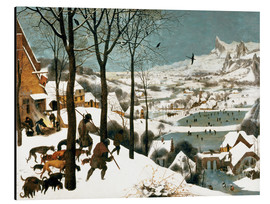 Aluminio-Dibond  Hunters in the Snow - Pieter Brueghel d.Ä.