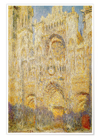 Póster Rouen Cathedral, at noon