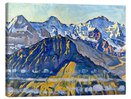Lienzo  Eiger, Mönch and Jungfrau in the sun - Ferdinand Hodler