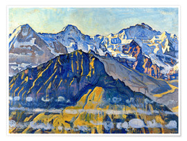 Póster  Eiger, Mönch and Jungfrau in the sun - Ferdinand Hodler