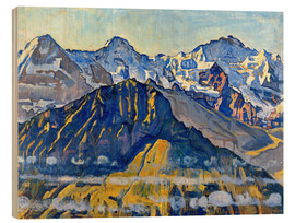 Madera  Eiger, Mönch and Jungfrau in the sun - Ferdinand Hodler