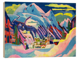 Cuadro de madera  Davos in winter - Ernst Ludwig Kirchner