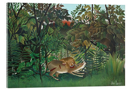 Metacrilato  The hungry lion - Henri Rousseau