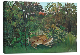 Lienzo  The hungry lion - Henri Rousseau