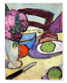 Póster Still Life with a chair and a vase