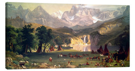 Lienzo  Indian camp in the Rockies - Albert Bierstadt