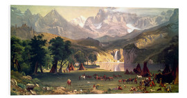 Forex  Indian camp in the Rockies - Albert Bierstadt