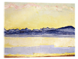 Cuadro de metacrilato  Mont Blanc with red clouds - Ferdinand Hodler