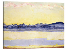 Lienzo  Mont Blanc with red clouds - Ferdinand Hodler