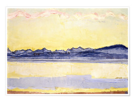 Póster  Mont Blanc with red clouds - Ferdinand Hodler