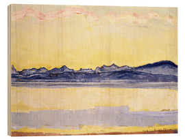Cuadro de madera  Mont Blanc with red clouds - Ferdinand Hodler