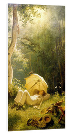 Cuadro de PVC  The Painter (A Rest in the Woods) - Carl Spitzweg