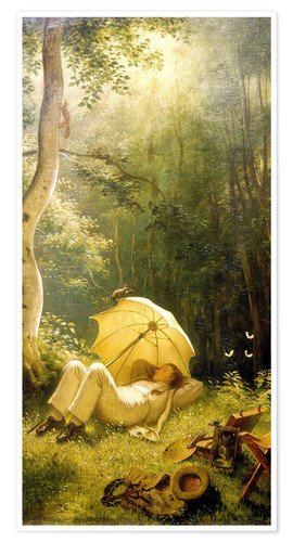 Póster The Painter (A Rest in the Woods)