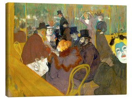 Lienzo  At the cabaret - Henri de Toulouse-Lautrec