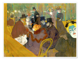 Póster  At the cabaret - Henri de Toulouse-Lautrec
