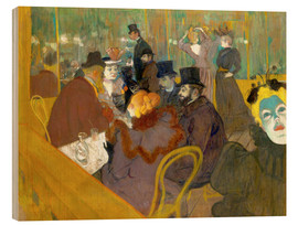 Cuadro de madera  At the cabaret - Henri de Toulouse-Lautrec