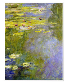 Póster  lily pond - Claude Monet