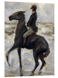 Cuadro de PVC  Rider on the beach - Max Liebermann