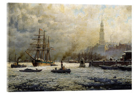 Cuadro de metacrilato  The Port of Hamburg, 1893 - Georg Schmitz